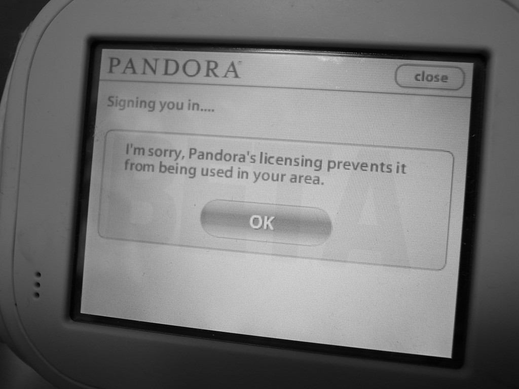 PANDORA can not access from Japan